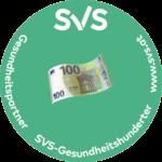 Logo: SVS Gesundheitshunderter, 100 Euro